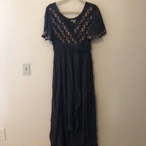 Dresses & Skirts - Clad & Cloth Embroidered Gray Dress
